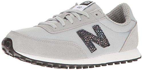 New Balance 410, Baskets Femme, Argenté (Silver Mink/Black Blue) 39 EU