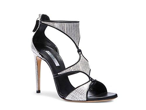 Sandali tacco alto Casadei in pelle nera zebrata - Codice modello: 8148N123.FH8T500C27 - Taglia: 37 IT