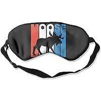 Retro Moose Silhouette 99% Eyeshade Blinders Sleeping Eye Patch Eye Mask Blindfold for Travel Insomnia Meditation preisvergleich bei billige-tabletten.eu