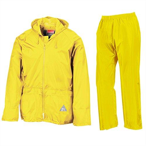 Completo antipioggia - Uomo (Giacca e Pantalone) (L) (Nero)