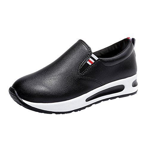 Strungten Damen Casual Flat-Bottom Running Schuhe Schwamm Kuchen Leichte Casual Tennis Air Fitness Schuhe mit weichen Sohlen