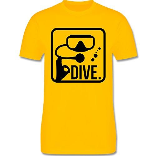 Wassersport - Dive. - Herren Premium T-Shirt Gelb