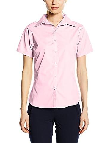 Premier Workwear Women's Ladies Short Sleeve Poplin Blouse, Pink, 18