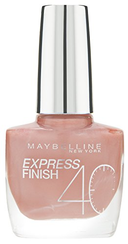 Maybelline New York Make-Up Nailpolish Express Finish Nagellack Pearly Pastel / Ultra schnelltrocknender Farblack in zartem Altrosa, 1 x 10 ml