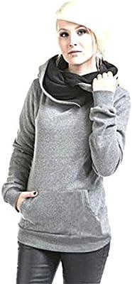 FEITONG mujeres Manga larga Capucha Suéter Encapuchado Algodón Capa Pull-over Outwear