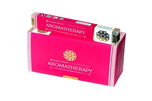 Aromatherapie-garten (Garten Frisch Räucherstäbchen für Aromatherapie, 180 g, 12 Packungen mit je 15 g in Einer Box, hochwertige, handgerollte natürliche Räucherstäbchen)