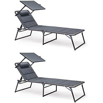 5-teiliges Campingmöbel Set Anthrazit Alu mit Tragegriff Camping 120x60x58//70cm