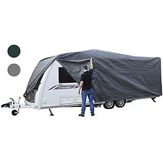 Andes Grey 14-17FT Heavy Duty Deluxe Breathable Waterproof Caravan Cover