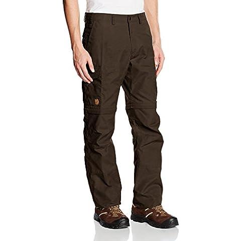 Fjällräven–Pantaloni da uomo Karl Zip-off, Uomo, Hose Karl Zip Off Trousers, Verde oliva scuro (633), 50 - 50 Verde Oliva