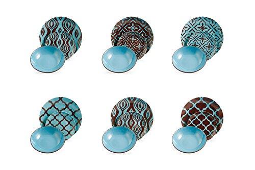 Villa D'este Home 2407767 juego de vajilla - juegos de vajillas (Multicolor, Cerámico)