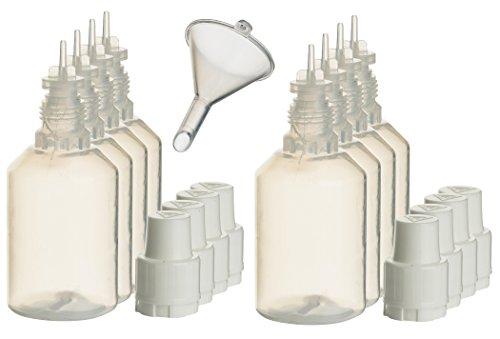8 Stück 30ml Liquidflaschen incl. 1x Füll-Trichter - SmokerFuchs® - Leerflaschen je 30 ml zum befüllen und mischen von E-Liquid für elektrische Zigaretten