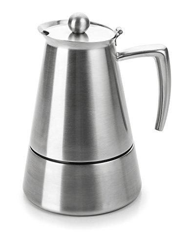 Lacor Hyperluxe Cafetera 6 Tazas, Plata