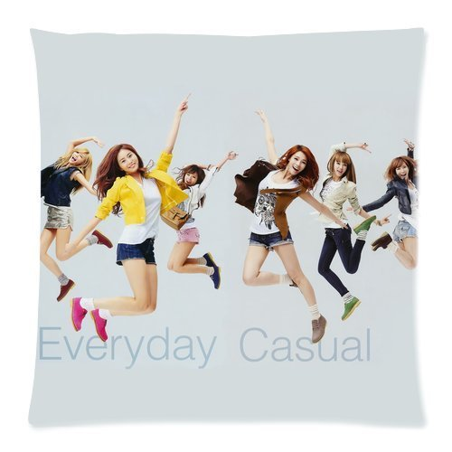 Wholesale Soft Cotton Pillowcase Print Sexy Girl Group Band After School Beautiful Picture Decorative Cushion Covers 2 Sides 18 X 18-3