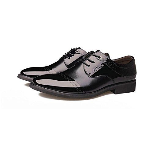 Die neue Geschäft Männer Casual Lederschuhe spitz / England / Lackleder / M Spitze Schuhe Black