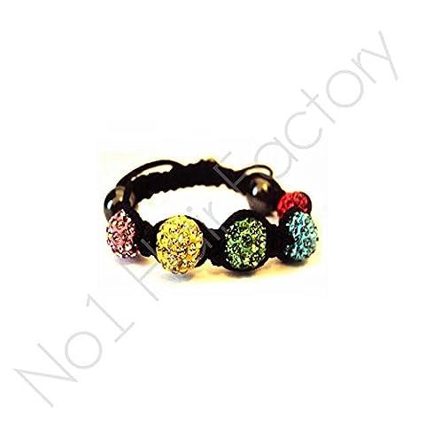 Bracelet shamballa pour enfant buy One Get One Free Cristaux Tchèques, Black Rope - Multi (Fk Cristallo)