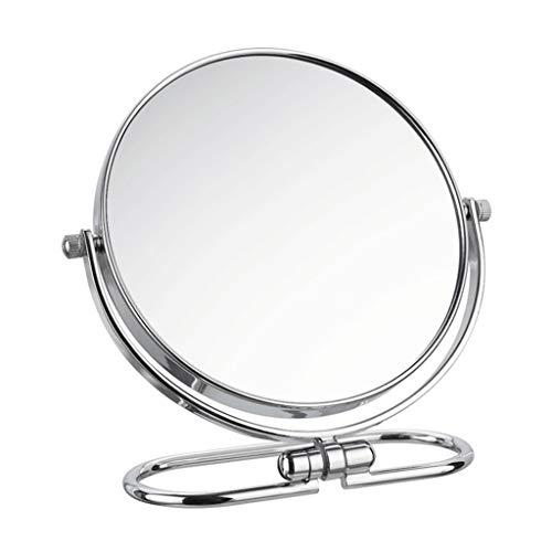 JKAD Kosmetikspiegel Reise Kosmetikspiegel Großer Europäischer Stil Schminkspiegel Tragbarer Klapptisch Desktop HD Kosmetikspiegel Mit Vergrößerung (Size : 8in) -