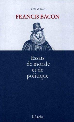 Essais de morale et de politique (Tete a Tete)