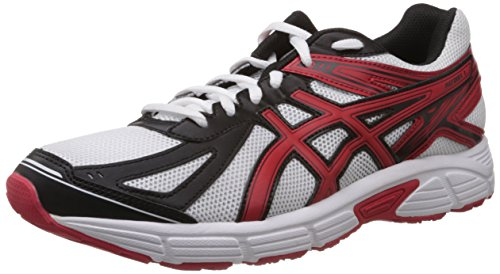 Asics Men's Patriot 7 White, Red and Black Mesh Running Shoes - 6 UK  available at amazon for Rs.2999