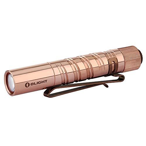 Olight i3t eos cu 180 lumen mini torcia portachiavi con clip torce led portatile in rame alta potenza impermeabile ipx8 con 2 modalità dell'illuminazione batteria aaa inclusa per esterno e interno