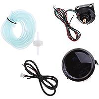 Gazechimp Set de Medidor de Presión Turbo Boost con Soporte Tubo Cable Adaptador de Coche