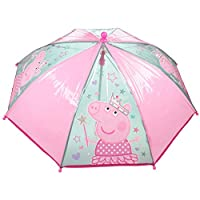 Peppa Pig Stick Umbrella Pink | transparent Kids Children Umbrella