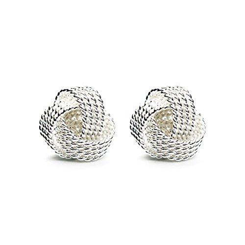 Frauen Designer Ohrstecker aus 925 Sterling-Silber - inkl. Schmuck-Beutel & Ersatzverschluss im Set – nickelfrei, Damen-Ohrringe für jeden - Ohrringe Diamant-ohrstecker