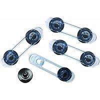 Dreambaby G188 - Chiusura multiuso, 4 pezzi, blu chiaro trasparente