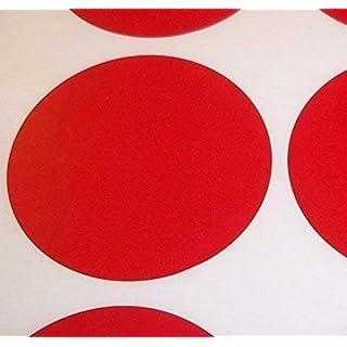 Audioprint Ltd. Pack of 200 Groß 63mm Rund/Kreise / Runde Farben Code Punkte Blanko Preis Aufkleber Selbstklebeetiketten - Wähle Sie Ihre Farbe/s - Rot, 63mm