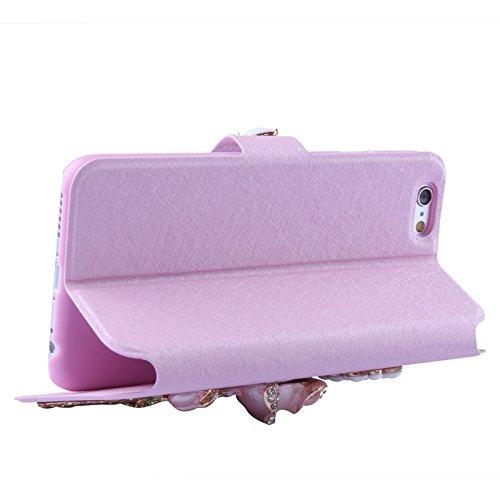 Phone case & Hülle Für IPhone 6 / 6s, Samsung Galaxy S IV / S III, Ultra-Thin Doppel Wölbung Sport Armband Fall mit Kopfhörer Loch & Key Pocket & Kopfhörer Winder & Card Slot ( Color : Purple ) Purple