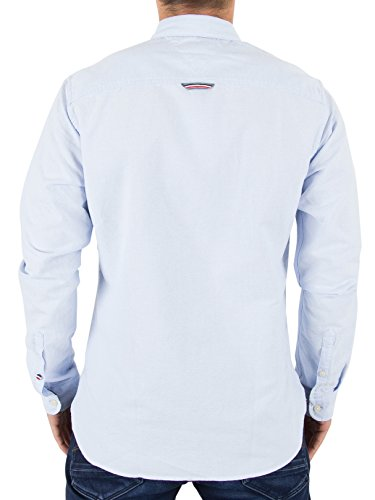 Hilfiger Denim Herren Freizeithemd Tjm Basic Solid Shirt L/S 26 Blau (Light Blue 421)