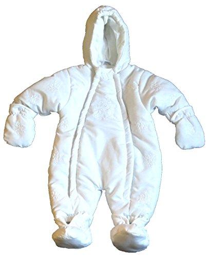 Schnizler Baby-Mädchen Schneeanzug Overall weiss 56
