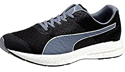 Puma Mens Nrgy Black and Folkstone Gray Running Shoes - 8 UK/India (42 EU)
