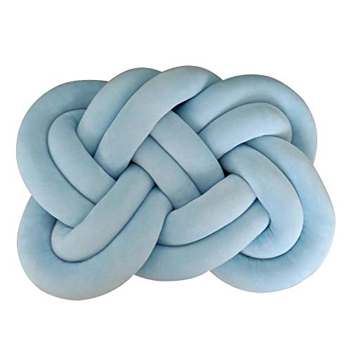 Krystallove Knot Cuscino Decorativo per Bambini, Decorazione Letto, in Peluche, per Auto, Divano, casa, Ufficio, Decorazione Himmelblau