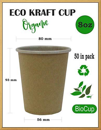 Pappbecher, Cappucciono Becher, Party-Becher, Outdoor-Becher, Teetassen, Bio-Becher, umweltfreundlich, biologisch abbaubar, aus reinem Kraftpapier - Hot Drink, Bio