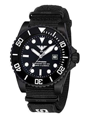 KHS Typhoon KHS.TYBSA.NXT7 - Orologio automatico con cinturino Natoband XTAC, colore: Nero