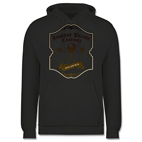 Shirtracer Piraten & Totenkopf - Instant Pirate Costume - Just add Rum - XS - Anthrazit - JH001 - Herren ()