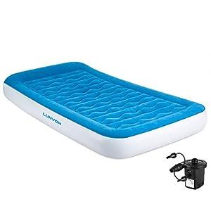 Lunvon Verdicktes Aufblasbare Luftbett mit Kissen, Luftmatratze Gästebett mit aufladbarer Tragbare Pumpe für Zuhause…