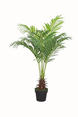 PASAMO 06873 Areca Palme, Goldfruchtpalme, Echtholzstamm, Kunstpflanze 100cm