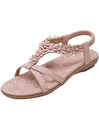 feiXIANG frauen mode sommer flach sandalen boho gedruckt flip   flops