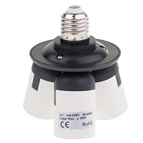 F Fityle 3 in 1 E27 Sockel Splitter Adapter E27 auf 3X E27 Lampensockel Konverter -