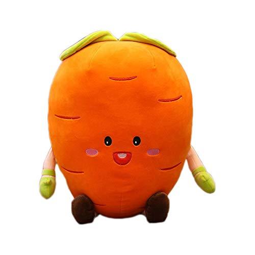 LMJ Outsider Plüschtierkissenkarotte, kreatives Kissen der weichen Karotte des Lächelnausdrucks,50cm -