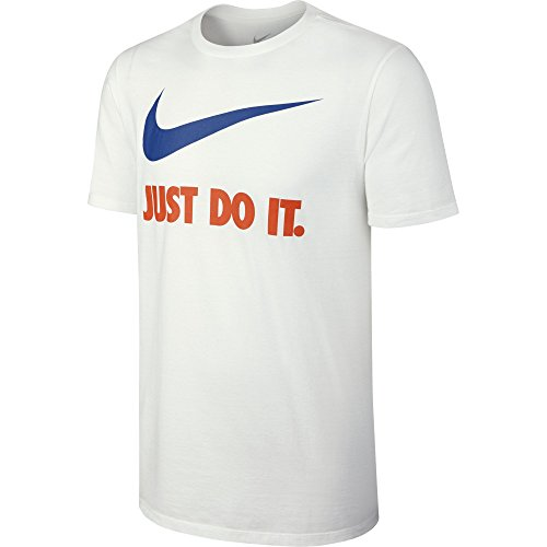 NIKE Herren Kurzarm Shirt Just Do It Swoosh White/Team Royal