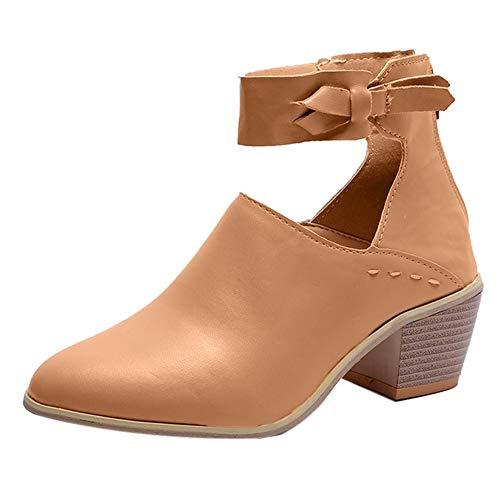 MYMYG Schneestiefel Damen Schneeschuhe Chelsea Boots Wildleder Reißverschluss Bogen Schuhe...