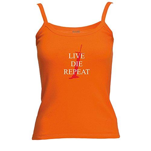Brand88 - Live. Die. Repeat Spagetti Traeger Top Orange