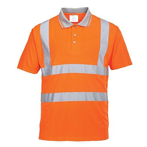 Portwest rt22orrxl polo maniche corte go/rt ad alta visibilità, arancione, xl