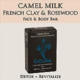 One With Nature - Faccia macinata triplo del latte del cammello di Bedu & argilla & palissandro francesi del sapone di barra del corpo - 4 oncia.