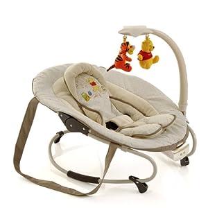 Hauck 634165 - Mecedora para bebés con arco de juegos, diseño de Winnie the Pooh (bebés hasta 9 meses o 9 kg, 3 posiciones), color beige de Hauck