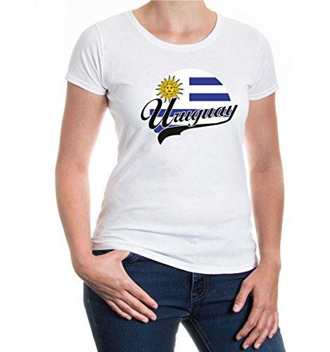 buXsbaum® Girlie T-Shirt Uruguay-Logo White-z-direct