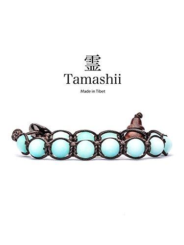 watch and jewels Tamashii bracciale SKY BLUE SATINATA OPACA originale benedetto dai monaci tibetani budda buddismo