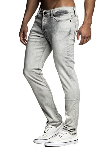 LEIF NELSON Herren Hose Jeans Jeanshose Freizeithose Denim LN1750; W32L32, Anthrazit